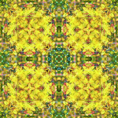 Digital Art - Kaleidoscopia - Purple Fuchsia by Frans Blok