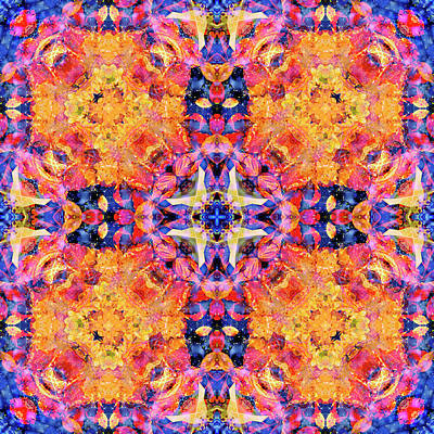 Digital Art - Kaleidoscopia - Purple Haze by Frans Blok