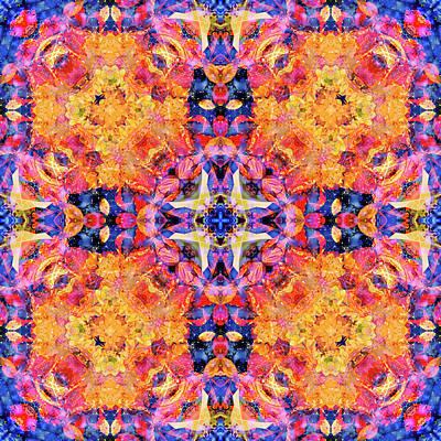 Digital Art - Kaleidoscopia - Purple Haze by Frans Blok