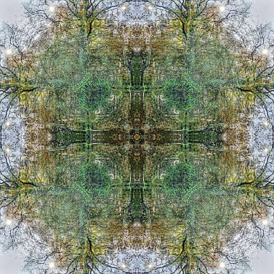 Digital Art - Kaleidoscopia - Sixteen Suns by Frans Blok