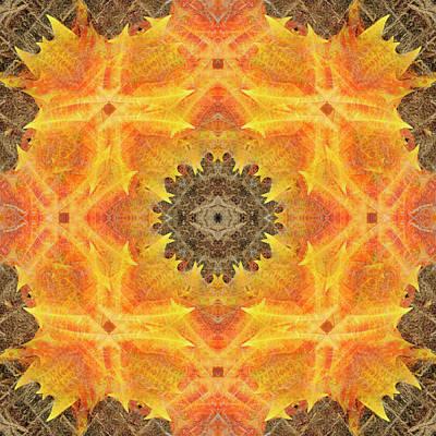 Digital Art - Kaleidoscopia - Yellow Brick Road by Frans Blok
