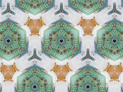 Photograph - Kaleidoscope In Mint And Orange by Agnieszka Kubica