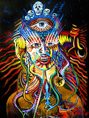 Art Print featuring the painting Kali by Amzie Adams
