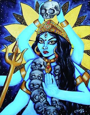 Kali- The Dark Goddess Art Print by Christina Marin