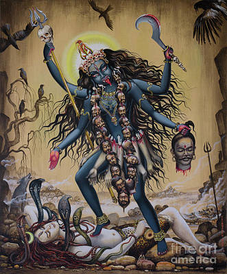 Painting - Kali by Vrindavan Das