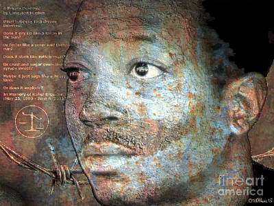 African-american Digital Art - Kalief Browder - Martyr by Walter Oliver Neal