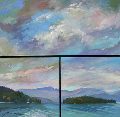 Betty Billups Wall Art - Painting - Kalispell Island Mt by Betty Jean Billups