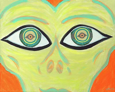 Alien Painting - Kalix  by Lisa English
