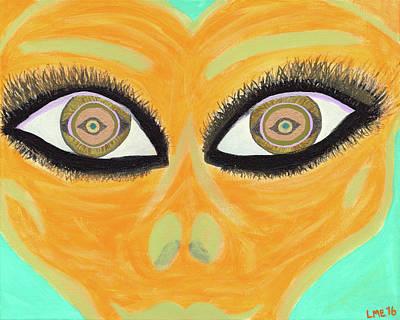 Alien Painting - Kalixa by Lisa English