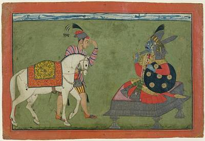 Incarnation Painting - Kalki Avatar The Future Incarnation Of Vishnu by Ca 17001710