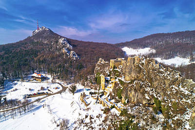 Photograph - Kalnik Mountain Winter Aerial View by Brch Photography