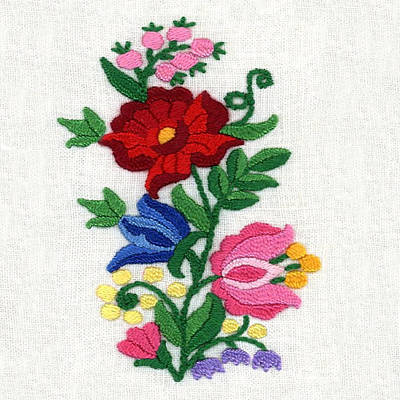 Photograph - Kalocsa Flowers Embroidery by Marianna Mills