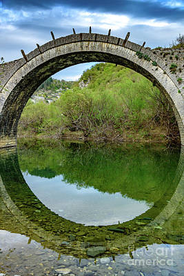Photograph - Kalogeriko Stone Bridge In The Zagori, Greece by Global Light Photography - Nicole Leffer