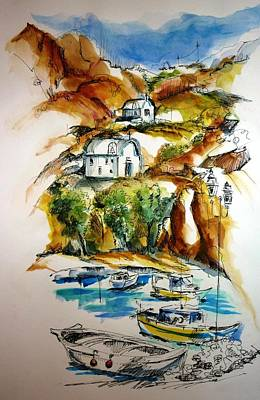 Kalymnos Art Print by Therese Alcorn
