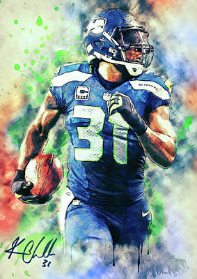 Football Paintings - Kam Chancellor by Zapista
