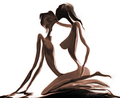 Fractals Digital Art Drawing - Kama Sutra - 14 by Mihai Manea