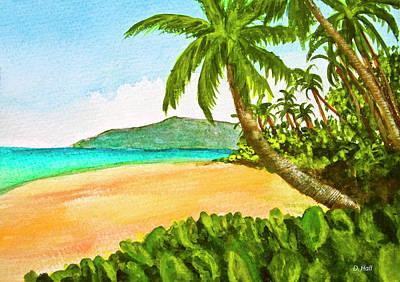 Kamaole Beach Maui Hawaii Art Painting #349 Art Print by Donald k Hall