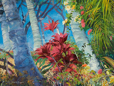 Painting - Kamaole Garden View by Judith Barath