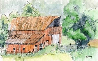 Painting - Kamas Barn by David King
