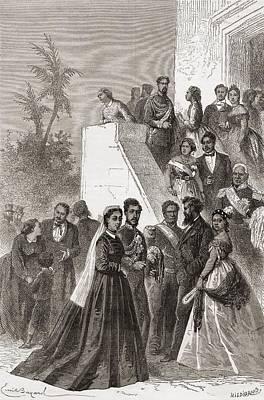 Iwa Drawing - Kamehameha V, 1830 by Vintage Design Pics