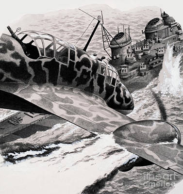 Kamikaze Attack Art Print by Pat Nicolle