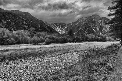 Photograph - Kamikochi Black And White by Jonah Anderson