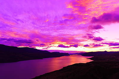 Royalty-Free and Rights-Managed Images - Kamloops Lake at dawn by Jeff Swan