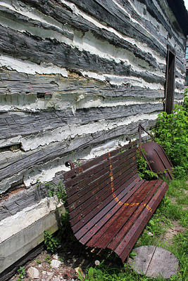 Photograph - Kammer Cabin Bench 6 by Mary Bedy