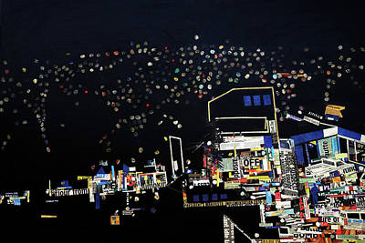 Mixed Media - Kamwokya At Night by Ronex Ahimbisibwe