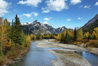 Photograph - Kananaskis River In Fall by Celine Pollard