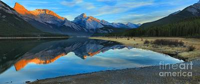 Photograph - Kananaskis Sunkissed Mountains by Adam Jewell