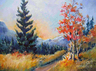 Painting - Kananaskis Valley 3 by Marta Styk