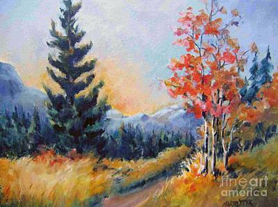 Painting - Kananaskis Valley 3 by Marta Styk