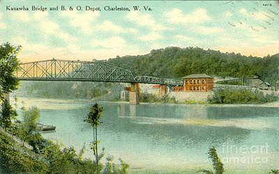 Virginia Postcards Photograph - Kanawha Bridge by Dale Powell