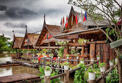 Photograph - Kanchanaburi River Shops by Adrian Evans