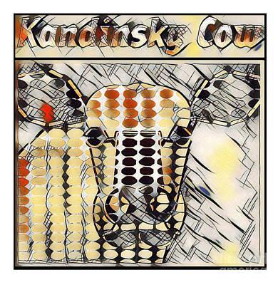 Barnyard Digital Art - Kandinsky Cow No. I by Geordie Gardiner