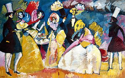 Aodcc Photograph - Kandinsky: Crinoline, 1909 by Granger