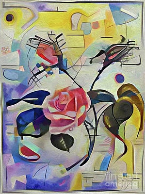 Photograph - Kandinsky Rose by Nina Silver