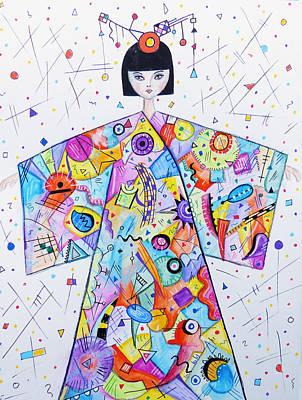 Kandinsky Wall Art - Mixed Media - Kandinsky's Birthday by Lynn Colwell