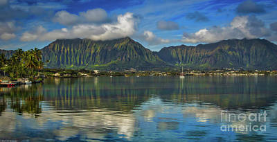 Photograph - Kaneohe Bay Oahu Hawaii by Mitch Shindelbower