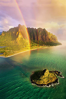 Photograph - Kaneohe Rainbows by James Roemmling