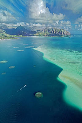Photograph - Kaneohe Sandbar Vertical by James Roemmling