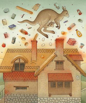Kangaroo Painting - Kangaroo by Kestutis Kasparavicius
