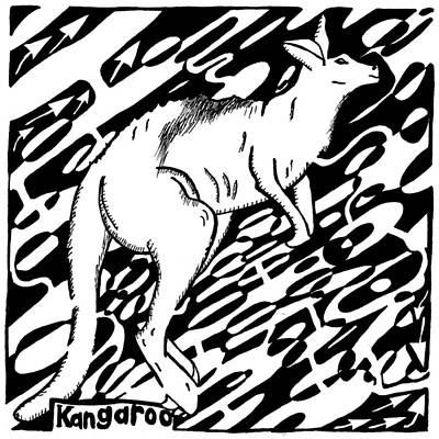 Marsupial Mixed Media - Kangaroo Maze by Yonatan Frimer Maze Artist