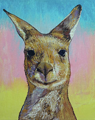 Kangaroo Painting - Kangaroo by Michael Creese
