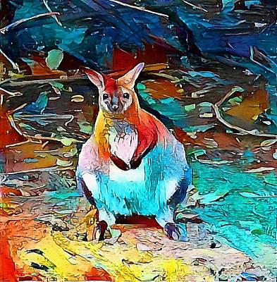 Kangaroo Drawing - kangaroo - My WWW vikinek-art.com by Viktor Lebeda