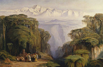 Painting - Kangchenjunga From Darjeeling by Edward Lear
