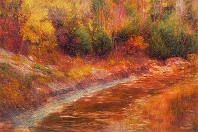 Photograph - Kansas Autumn Creek by Anna Louise