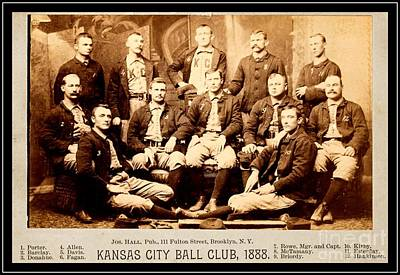 Photograph - Kansas City Baseball Club 1888 by Peter Gumaer Ogden Collection