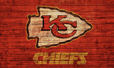 Mixed Media - Kansas City Chiefs Barn Door by Dan Sproul